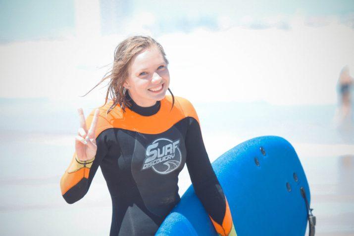 Гидрокостюм для серфинга в Португалии