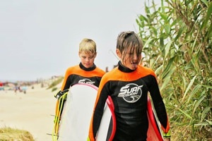 Children's surfing for two children